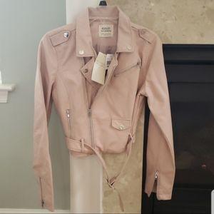 NWT Ashley vegan leather moto jacket
